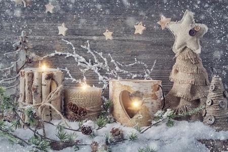 Weihnachtsdeko aus natürlichen Materialien