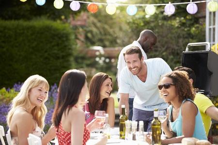 Garten mit Freunden