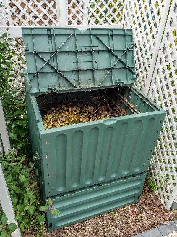 Plastiktonne für Kompost