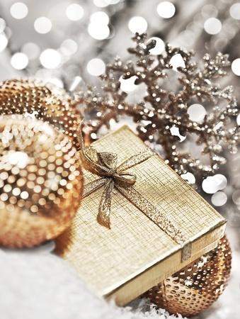 glänzende Weihnachtsdeko