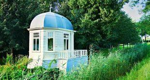 rundes Gartenhaus